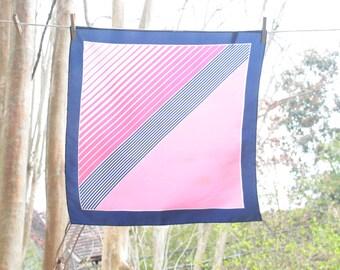 Vintage, 60s, 70s, K-mart, pink, blue, striped, scarf
