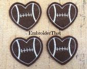 UNCUT Heart  Sports Balls feltie applique patch embellishments (4)