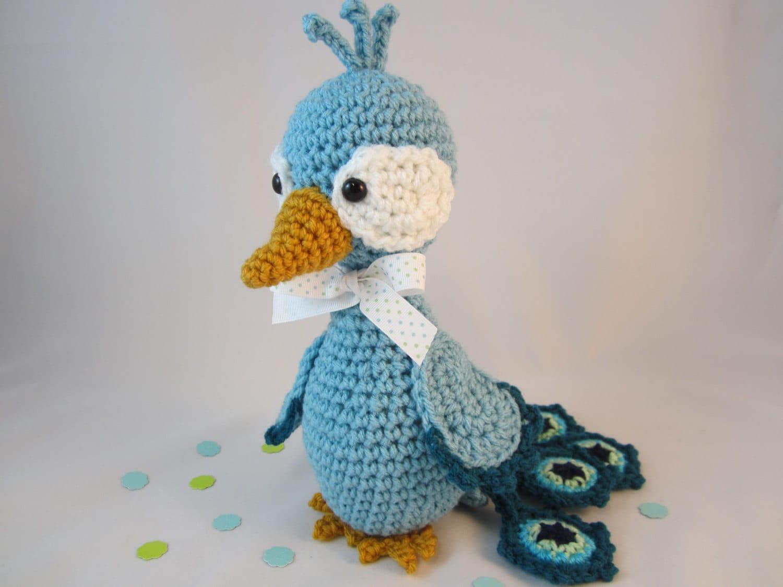 Amigurumi Star Wars De Ganchillo : Peacock Crochet Peacock Stuffed Peacock Amigurumi Peacock