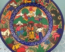 Mexican handpainted wall plate.