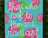 Stretch canvas; Psalm 34:5