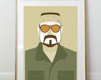 Walter Sobchak // Big Lebowski Poster // Portrait // 11 x 17 // A3 // RIBBA 290 x 390mm