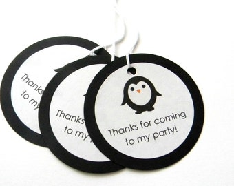 12 Penguin Thank You Tags