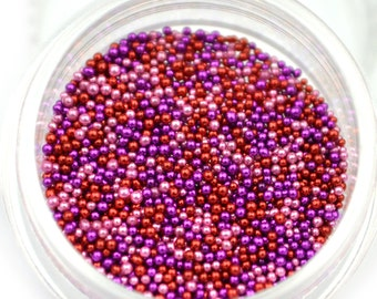 NEW Mixed Color Caviar Manicure Pedicure Micro Tiny Nail Art Stickers Beads for nails crafts DIY