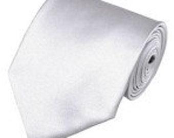 mens  white  necktie custom made many colors