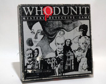 Whodunit Mystery Detective Game from Selchow and Righter 1985 COMPLETE (read description)