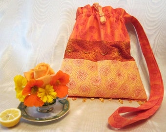 Orange Handbag Tote
