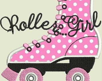 Roller Skate  Applique Machine Embroidery Design