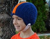 PATTERN Football Helmet Hat - Crochet