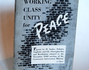 Vintage Book, Working Class Unity for Peace