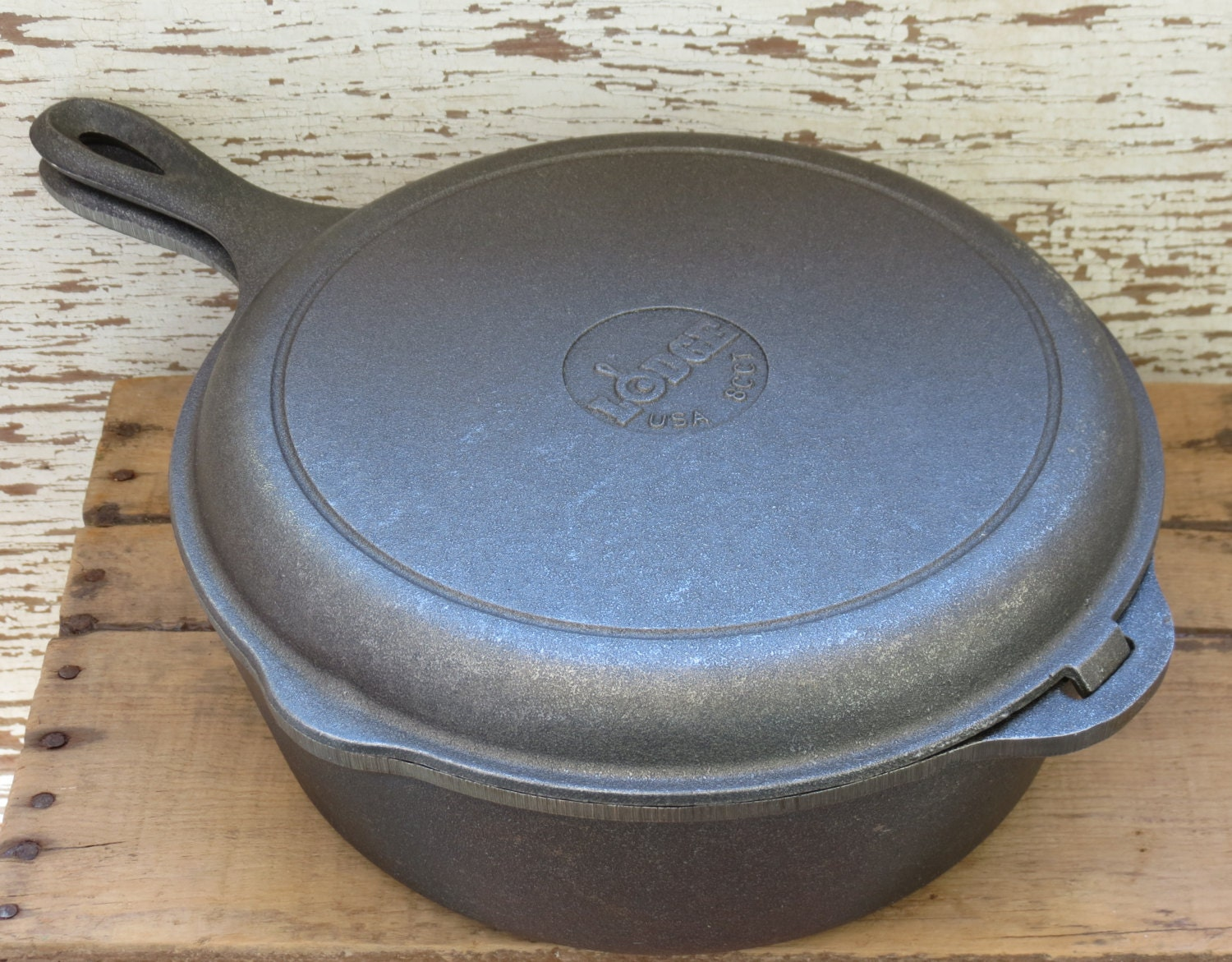 Lodge cast iron double skillet combo cooker cct ccb