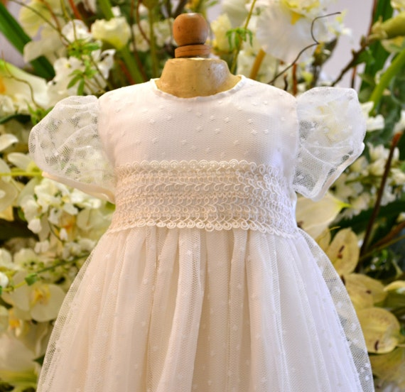Christening Gowns From Wedding Dresses: Couture Baptism Gown Christening Gowns Dedication Gown