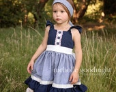 SALE....Buy 2 get 1 free.....Huckleberry Girl's Flutter Apron Dress Top Instant Download PDF Sewing Pattern and Tutorial, Sizes 3-6M to 10