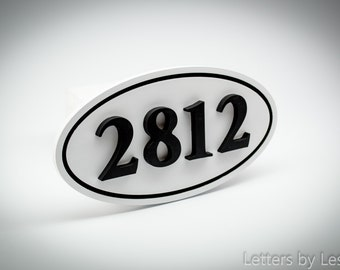 Modern Outdoor House Number Plaque, House Numbers, House Number Sign, Wooden House Number Plaque