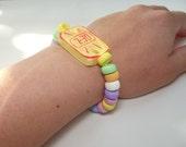 Candy Watch Bracelet - Sweetie Watch - Polymer Clay But Looks Realistic - Edible Watch - Sweety Bracelet - Pastel Colours - Pretty Fairy Kei