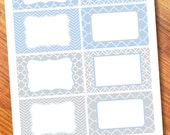 Blue/Gray Printable Labels