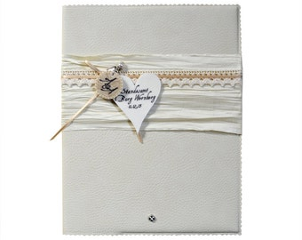 Romantic guestbook A4 - cream - top & felt