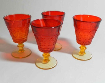 Duncan Miller Amberina Wine Goblets