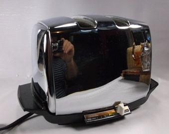 Chrome Toaster Vintage Sunbeam Radiant Control Retro Funky Auto Drop  Works! epsteam