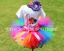 Personalized Birthday Candy Tutu Set   - Baby - Infant - Toddler up to size 4T -  Birthday Set