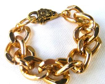 Chunky Gold Bracelet, Chunky Bracelet, Chain Bracelet, Chunky Chain Bracelet, Gold Bracelet