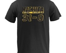 Wichita State 31 - 0 Basketball Tee Black Cotton Tee