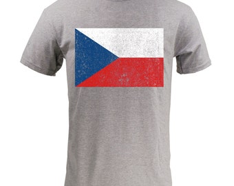 Flag of The Czech Republic - Sport Grey
