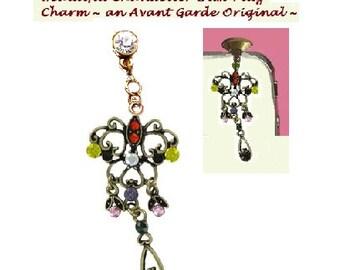 Beautiful Chandelier Dust Plug Charm ~ An Avant Garde Original By ShopAtLuxe