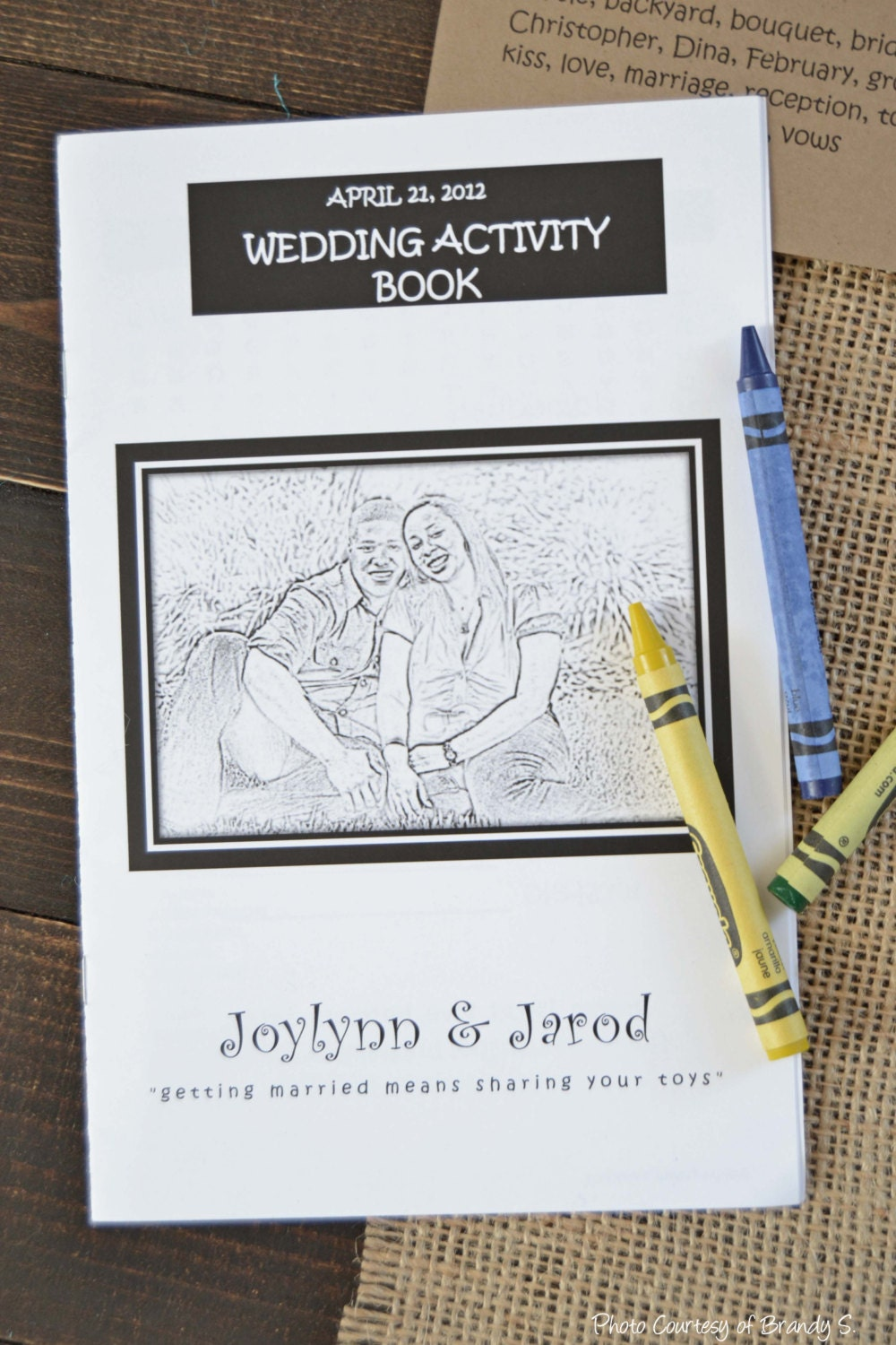 Personalized Kids Wedding Activity Amp Coloring Book