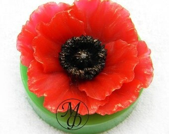 Silicone soap mold Poppy