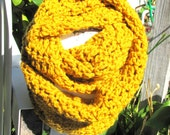 "Infinity Scarf / Cowl in "" Gypsy Gold "" by Dripping In Yarn"