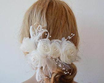 Wedding  Flower Hair Combs,  Wedding Hair Accessories,  Bridal Flower  Hair Combs, Hair Flower, Bridal Hair Accessories