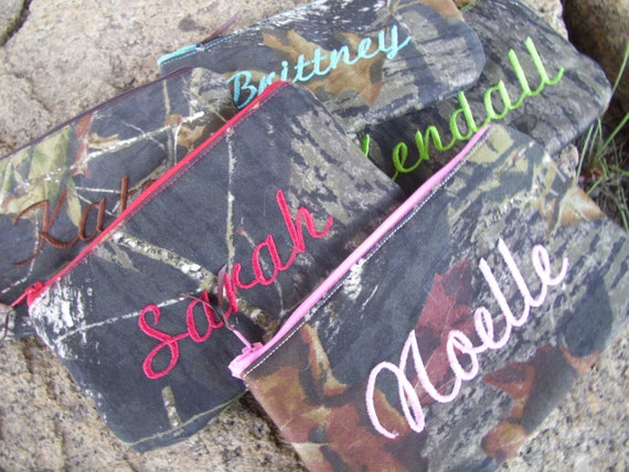 Personalized Camo Zipper Pouch, Cosmetic Bag