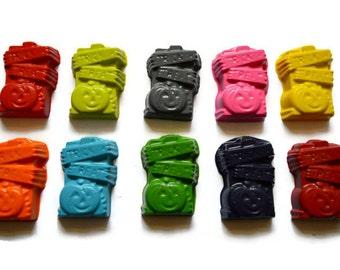 Trick or Treat Pumpkin Crayons set of 10 - Halloween Crayons - Halloween Favors - Halloween Treats