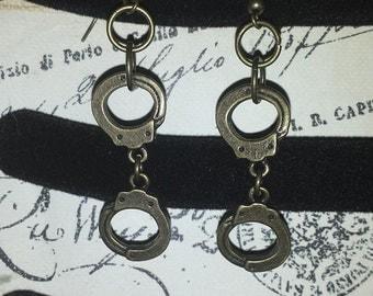 Steampunk Handcuff Earrings