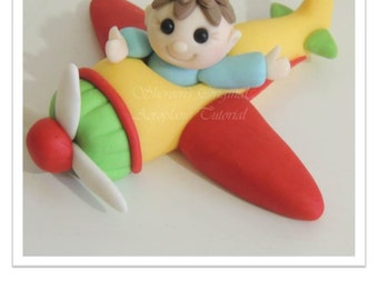 Airplane & Pilot Cake Topper PDF Tutorial