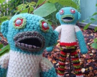Zombie Guy -handmade crochet, made to order