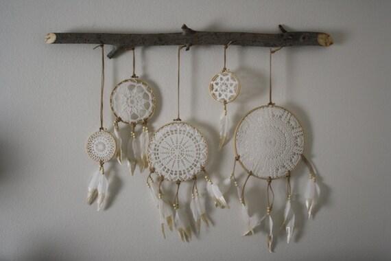Dreamcatcher Wall Art dreamcatcher wall hanging white boho wall art crochet wall