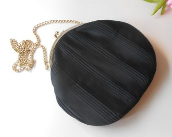 Vintage Walborg, Black Evening Bag, Black Handbag, Classic Style, Evening Purse, Black Handbag, Walborg Evening Bag  EB-0244
