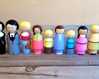 The sound of music wood peg people dolls