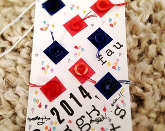 Graduation Tag Card (customizable) // gift tag shaped card // card and envelope