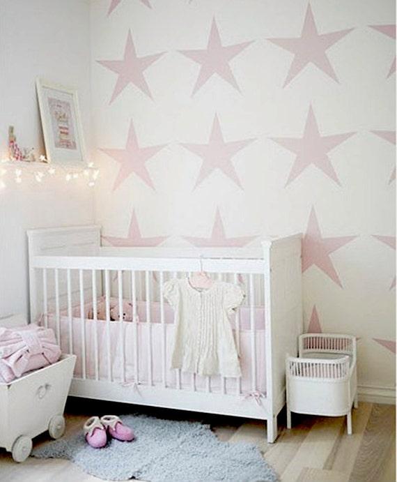 Pochoir toile b b chambre mod le mur salle par omgstencils for Pochoir chambre enfant