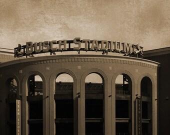 Busch Stadium Panorama - 12x36 in. - Cardinals - St. Louis, MO - Wall Art - Wall Decor