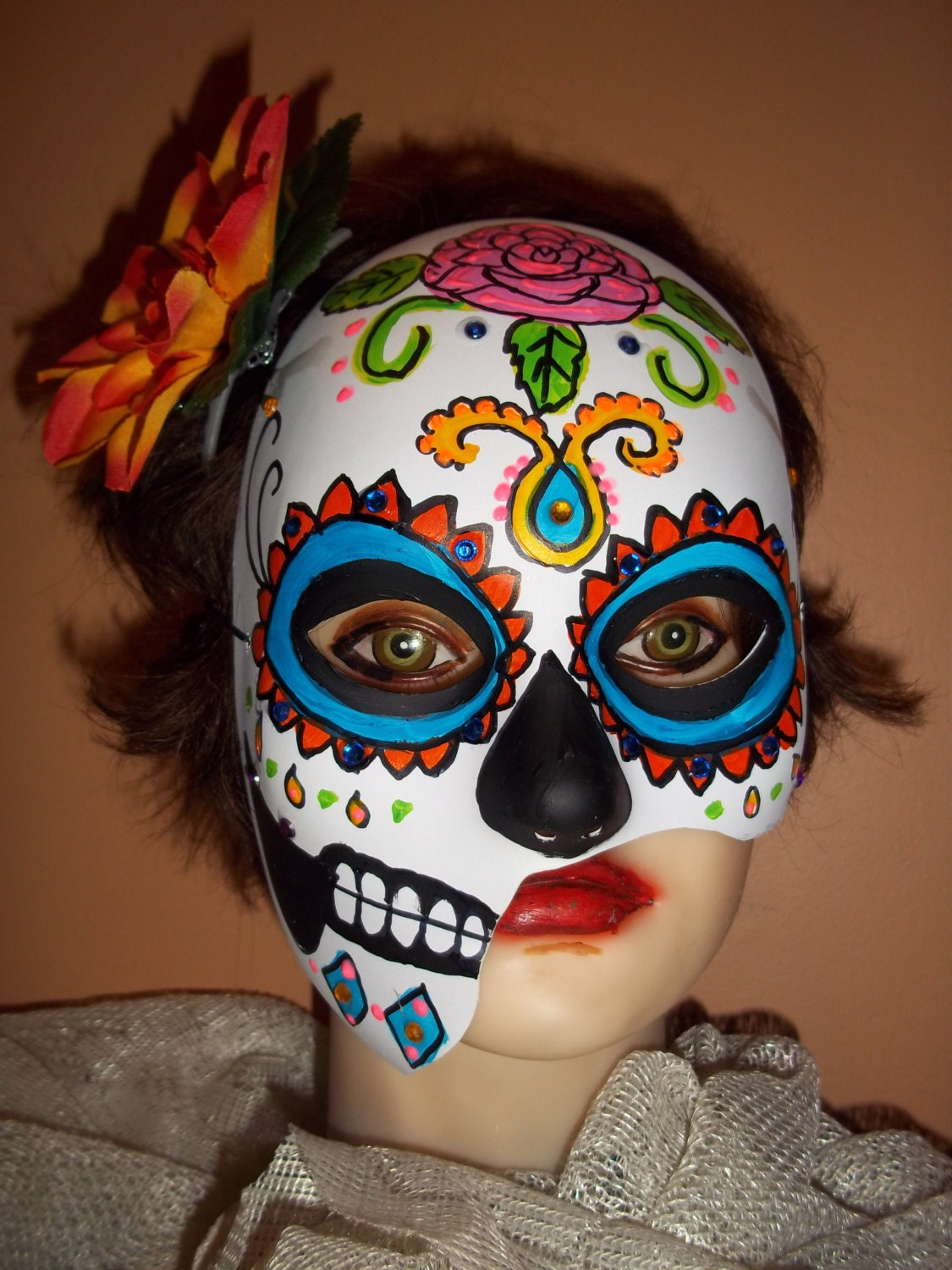 ... Day Of The Dead Mask , Day Of The Dead Mask Template , Day Of The Dead