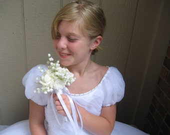 Flower Girl Bouquet  / Roses And Lily Of The Valley