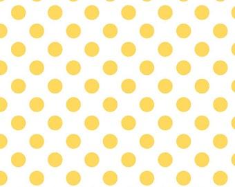 Half and 1 yard cuts Medium Dots Yellow by Riley Blake Designs