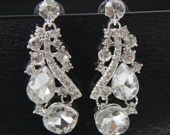Bridal Earrings, Bridal Crystal Earrings, Bridal Earrings Crystal, Swarovski Drop Dangle Bridal Earrings, Crystal Earrings, Wedding Earrings