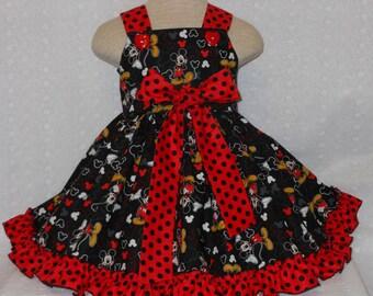 Mickey ,Disney Girls Dress, Custom Boutique Birthday Mickey Dress, Unique Disney Mickey Mouse Dress, Pageant Dress, Princess DressHandmade,
