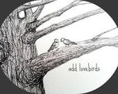 Add a Pair of Love Birds to your Wedding Thumbprint Tree Guestbook - Wedding Tree, Lovebirds, Sweet, Fingerprint Tree Guest Book, Birdies