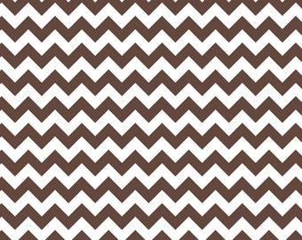 Brown/ White Small Chevron by Riley Blake - Yardage